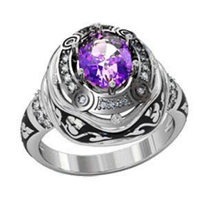 Кольцо мужское серебряное Эпик