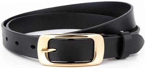 Модный женский узкий кожаный ремень 2 см. Traum 8825-17, черный