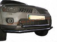 Защита переднего бампера труба двойная D60-42 на Mitsubishi Pagero Sport 2008+