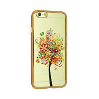 Чехол Remax Osaka Series for iPhone 5/5S August Tree (Gold)