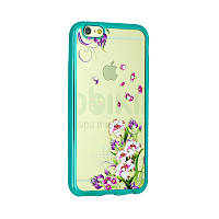 Чехол Remax Osaka Series for iPhone 5/5S Spring Flowers (Blue)