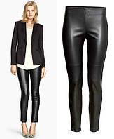 Женские штаны, леггенсы с кожзама H&M, фото 1