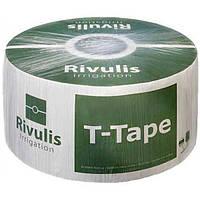 Капельная лента T-Tape 6mil 20см на метраж кратно 50м. Капельный полив, фото 1