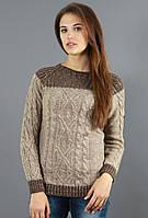 Осенний свитер с добавлением шерстяной нити