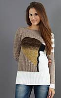 Вязаный свитер с манжетами на рукавах, фото 1