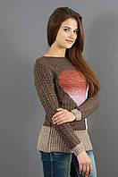 Молодежный свитер красивой вязки