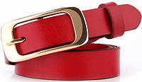 Яркий женский узкий кожаный ремень 2 см. Traum 8825-19, красный