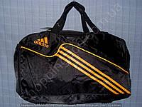 Багажная сумка Adidas 114132 средняя (52х27х23, см) черная с оранжевым спортивная дорожная из полиэстера