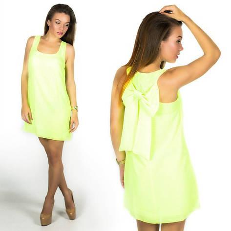 Салатовое платье 15560 , фото 2