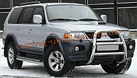 Защита переднего бампера кенгурятник высокий без защиты картера(нерж.) D60 на Mitsubishi Pagero Sport 2002-08