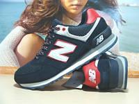 Мужские кроссовки летние New Balance 574 сине-красные 41 р., фото 1