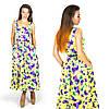 Желтое платье 15556