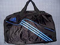 Багажная сумка Adidas 114133 средняя (52х27х23, см) черная с синим спортивная дорожная из полиэстера