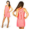Коралловое платье 15560