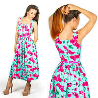 Бирюзовое платье 15556