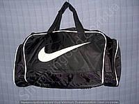 Багажная сумка 114135 средняя (50х27х23, см) черная с белым спортивная дорожная из полиэстера
