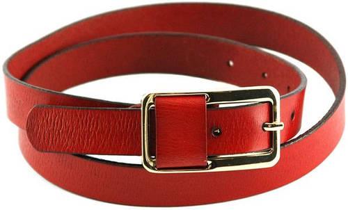Удобный женский узкий кожаный ремень 2 см. Traum 8825-26, вишневый