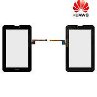 Touchscreen (сенсорный экран) для Huawei MediaPad 7 Vogue S7-601u, 9 pin, черный, оригинал