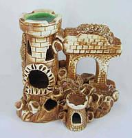 Керамика для аквариума Замок средний, 19х20 см., фото 1