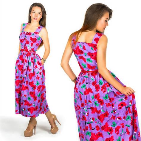 Фиолетовое платье 15556 , фото 2
