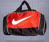 Багажная сумка 114139 средняя (50х27х23, см) черная с красным спортивная дорожная из полиэстера