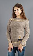 Женский свитер с украшением, фото 1
