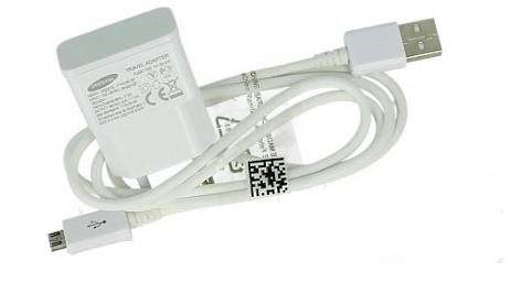 Сетевое зарядное Samsung White (ETAOU80EWE)