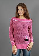 Малиновый осенний свитер