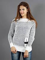 Оригинальный молодежный вязанный свитер