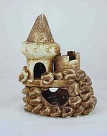 Керамика для аквариума Замок в камушках, 12х15 см., фото 1