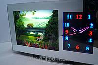 Ночник C часами И панорамой природы 2517, светильник, настольная лампа, ночник