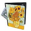 Холдер-паспорт из натуральной кожи Подсолнухи