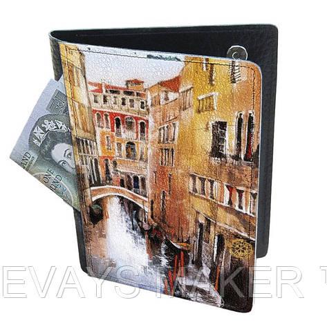 Холдер-паспорт из натуральной кожи Венеция, фото 2