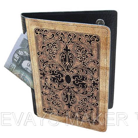 Холдер-паспорт из натуральной кожи Пиковый Туз, фото 2