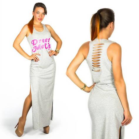 Серое платье 15891, фото 2