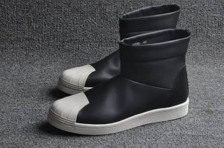 Кроссовки женские Adidas Superstar Ankle Boot x Rick Owens / ADW-640 (Реплика)