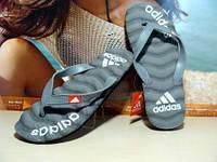 Мужские вьетнамки Adidas серые 42 р.