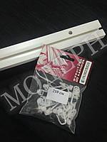 Карниз потолочный пластиковый на одну дорожку КС-1 длина 2,1м