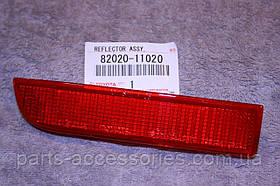 Toyota RAV4 2006-12 лівий катафот відбивач в задній бампер новий оригінал