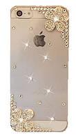 Чехол прозрачный пластиковый для iPhone 4/4S (горный хрусталь) балерина