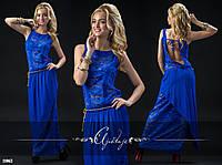Платье в пол с открытой спинкой (4 цвета)