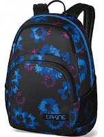 Практичный городской рюкзак для учебы в синие цеты Dakine HANA 26L blue flowers 610934861341 черный