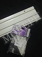 Карниз потолочный пластиковый на три дорожки КС-3 длина 3м