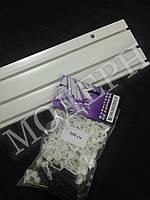 Карниз потолочный пластиковый на три дорожки КС-3 длина 3,5м