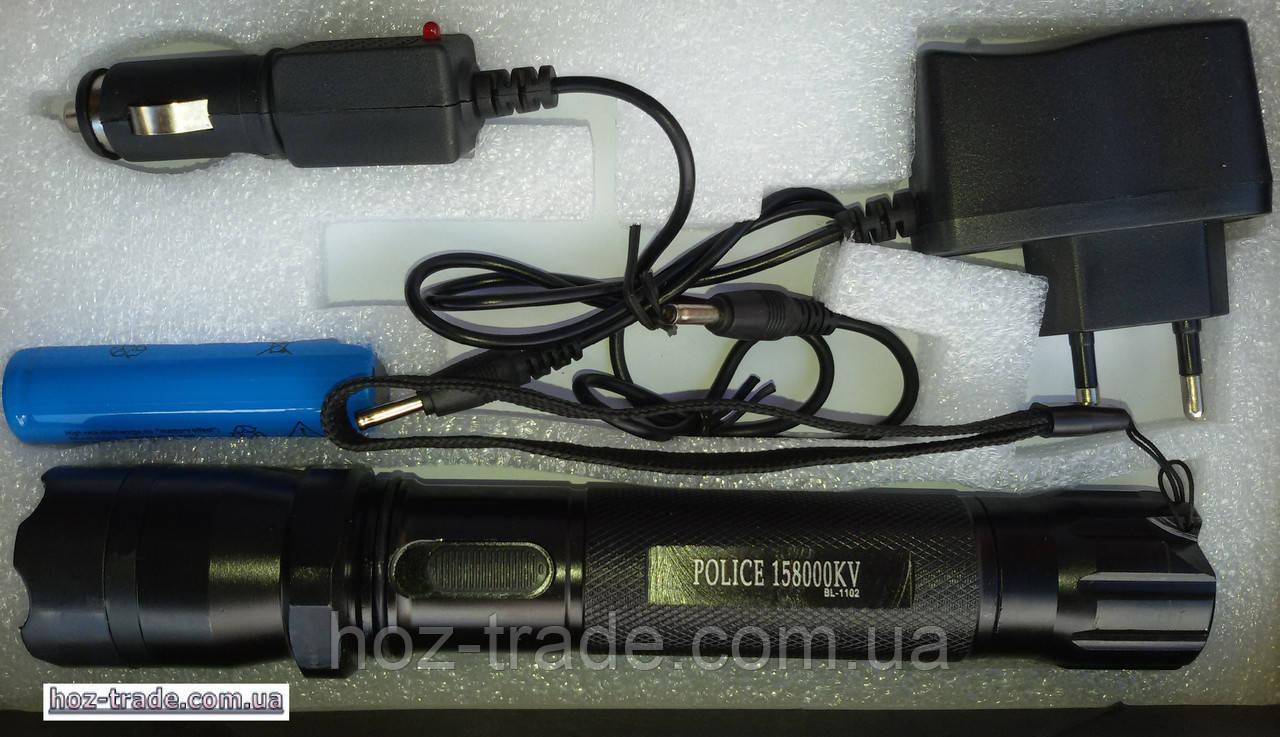 инструкция на электрошокер type1101 light flashlight police