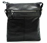 Мужская сумка из натуральной кожи черная