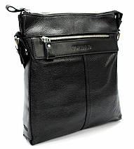 Мужская сумка из натуральной кожи черная, фото 2
