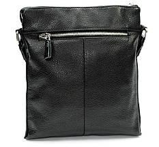 Мужская сумка из натуральной кожи черная, фото 3