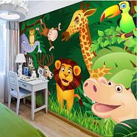 """Яркие 3D фотообои """"Мир животных"""""""