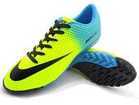 Детские футбольные сороконожки Nike Mercurial Victory Turf Yellow/Black/Blue